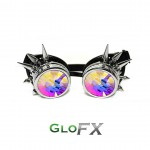 Chrome spike kaleidoscoop goggles