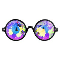 Caleidscoop bril Brilliant Rainbow Black
